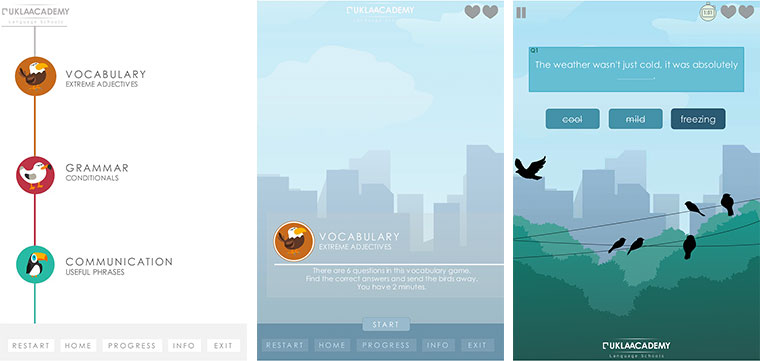 50 Examples of Mobile Menus and Navigation in E-Learning #107