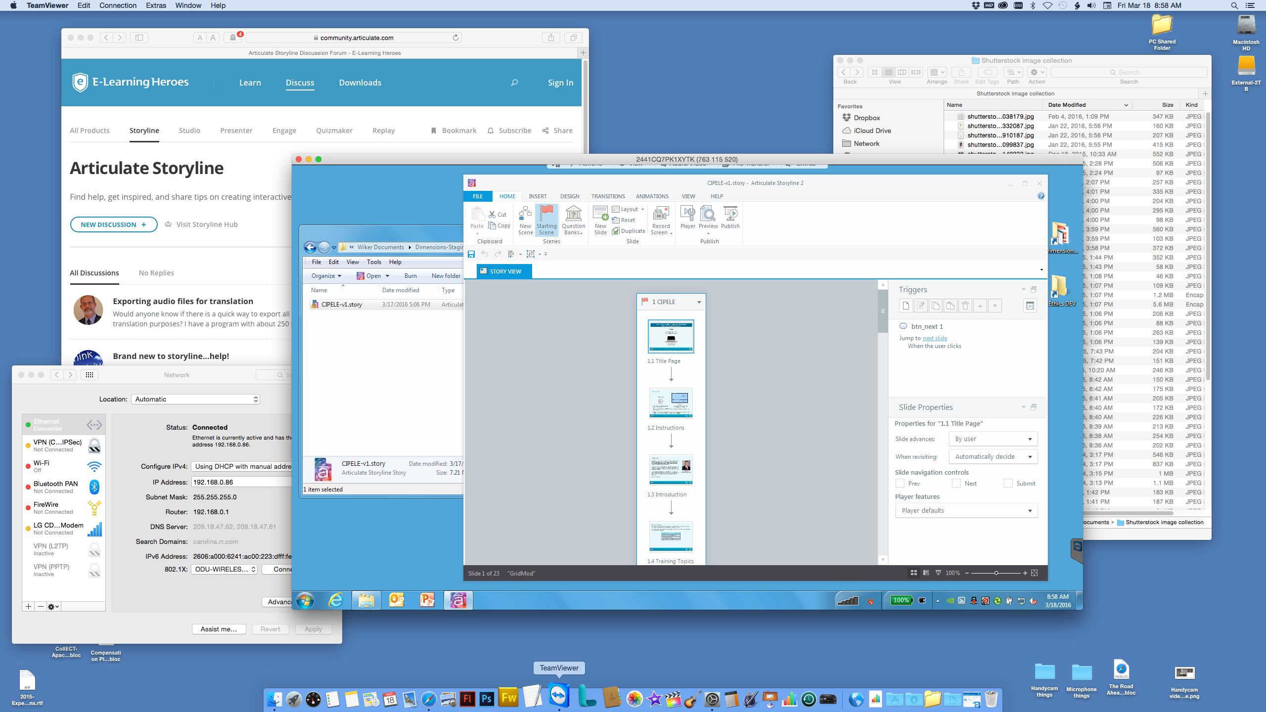 PC on Mac via VNC