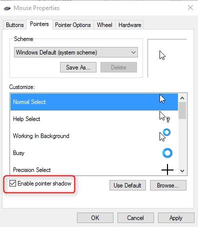 Pointer Shadow