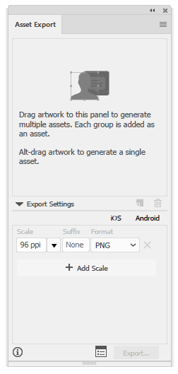 Illustrator Asset Export