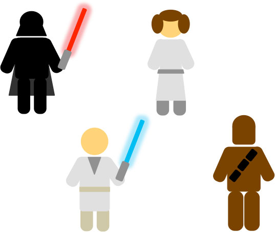 Star Wars Pictograms (PowerPoint)