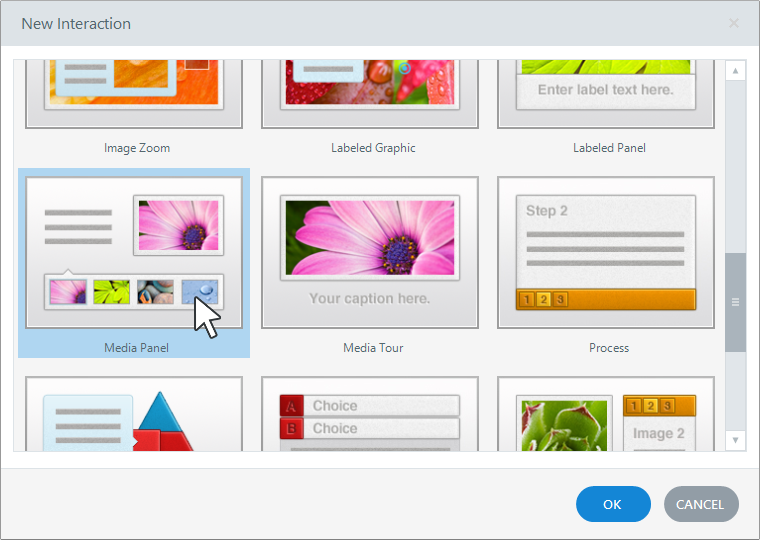 Choose from 20 Interaction Types in Articulate Engage 360