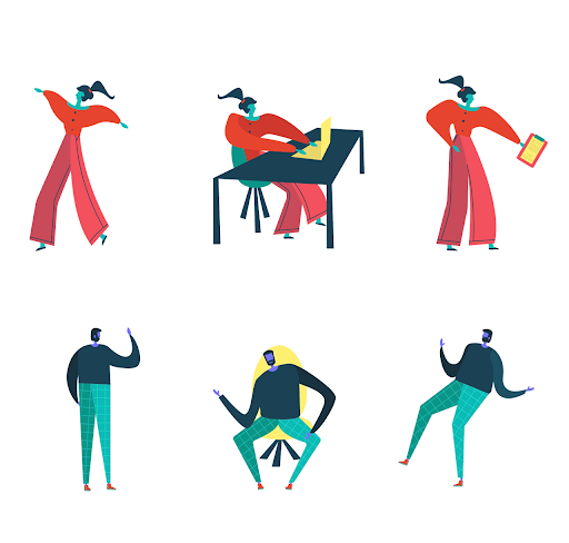 Image of colorful character illustrations