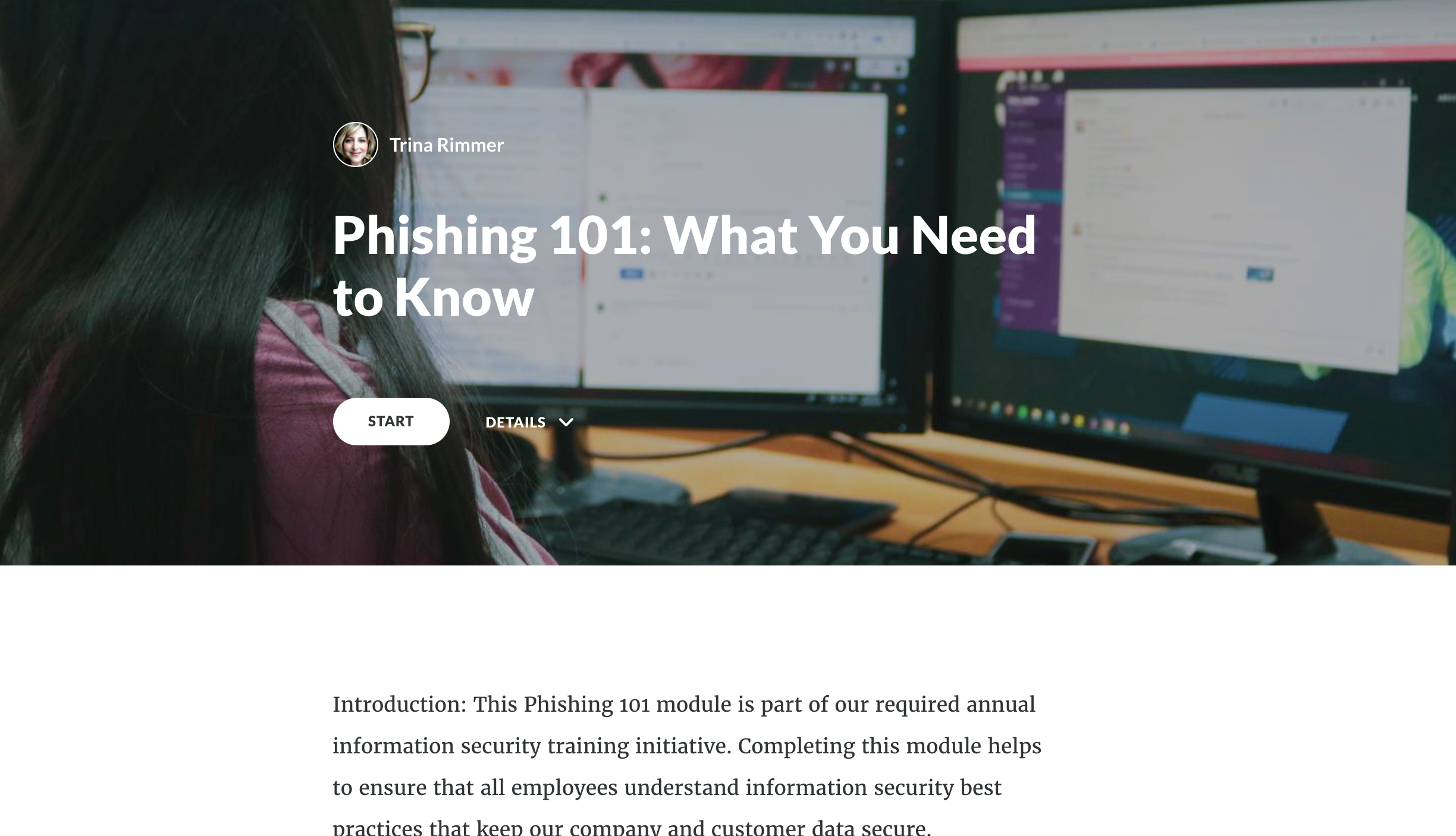 Phishing 101 course