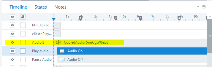Audio file with Play trigger