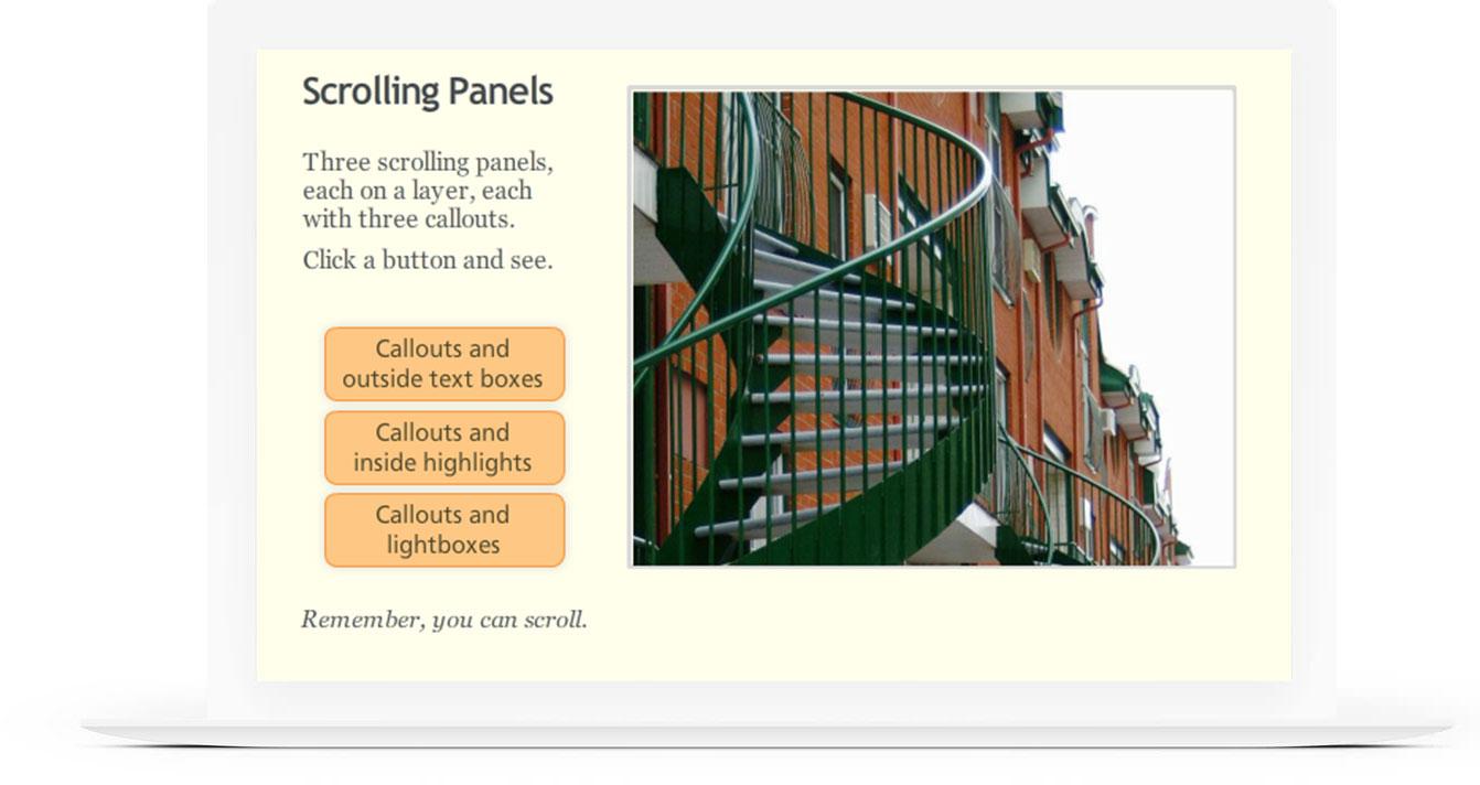 Scrolling Panels