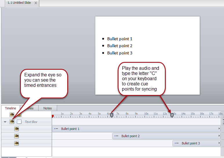Syncing Bullets Imported from PowerPoint