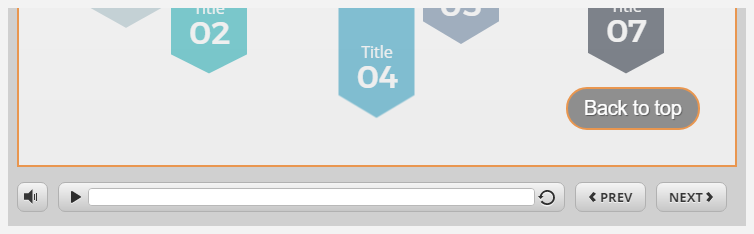 Back to top button in a published course