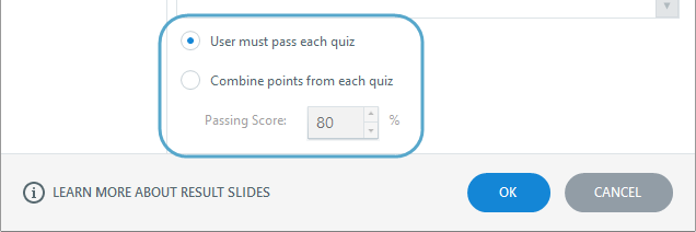 How to combine results from multiple quizzes