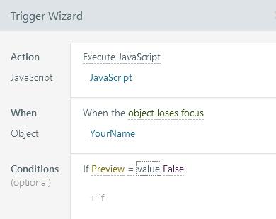 javascript error message