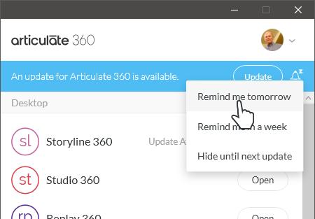 Install & Update the Articulate 360 Desktop App - E-Learning