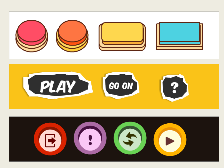Web inspired game buttons