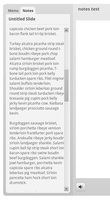 flash notes and scroll bar