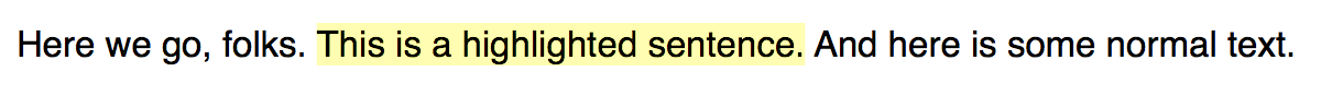 Highlighted text sample