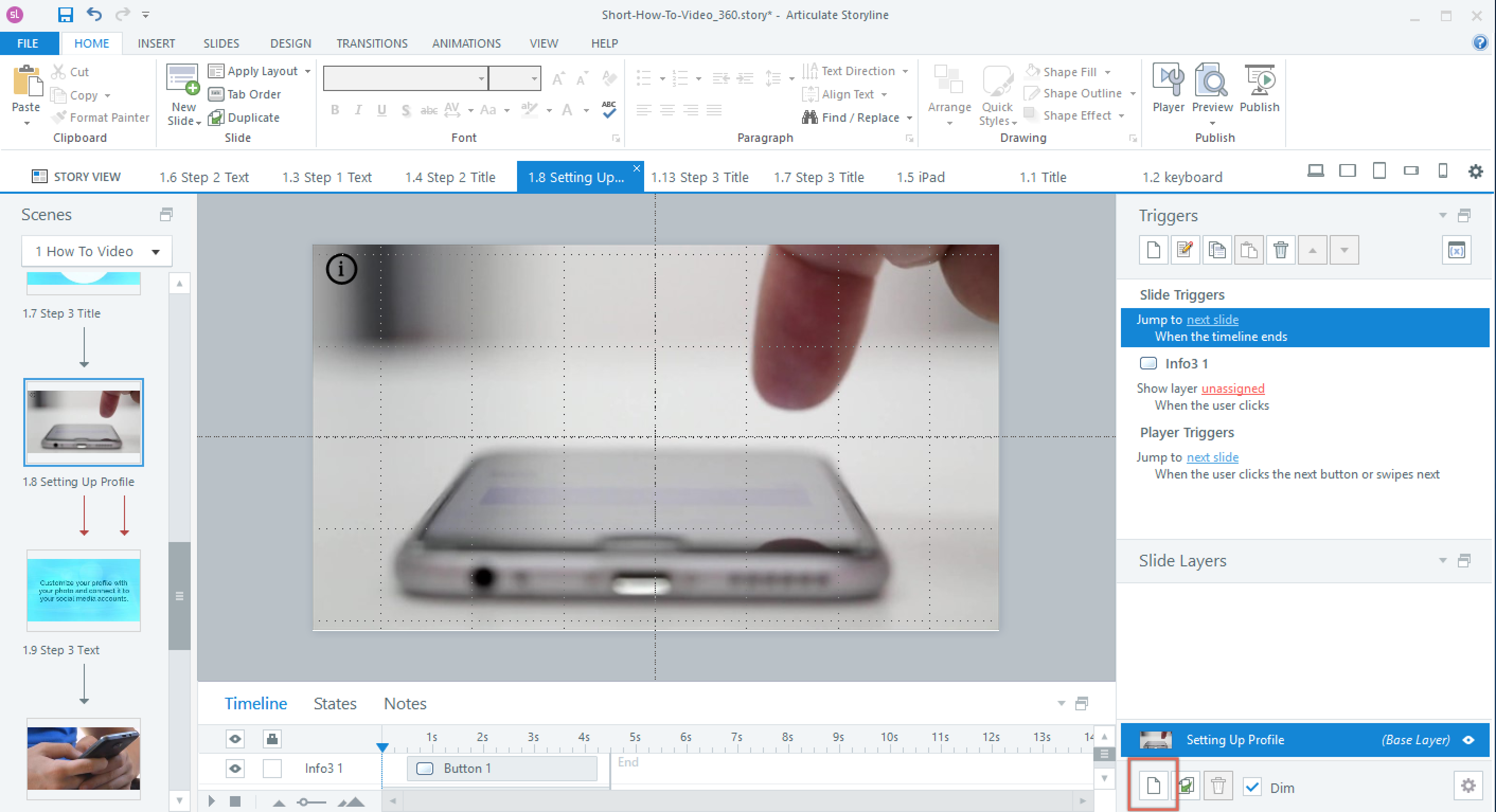 Add a Layer in Articulate Storyline 360