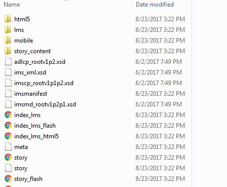 LMS output folder