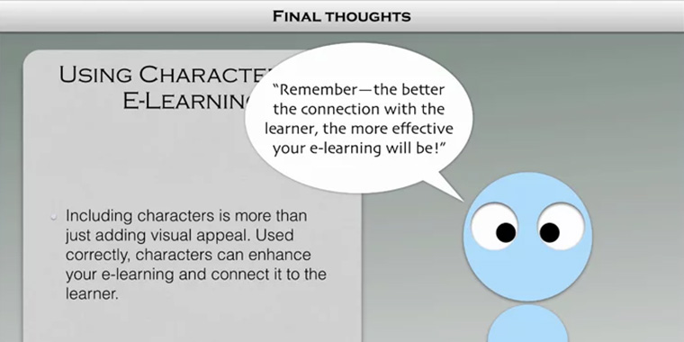 Using Characters in E-Learning