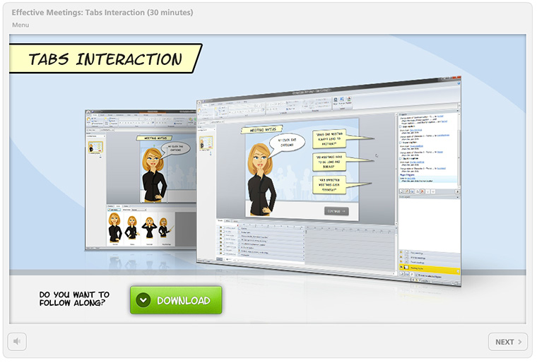 Video Workshop: Create a Custom Tabs Interaction in Articulate Storyline