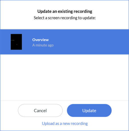 Peek 360 update existing recording