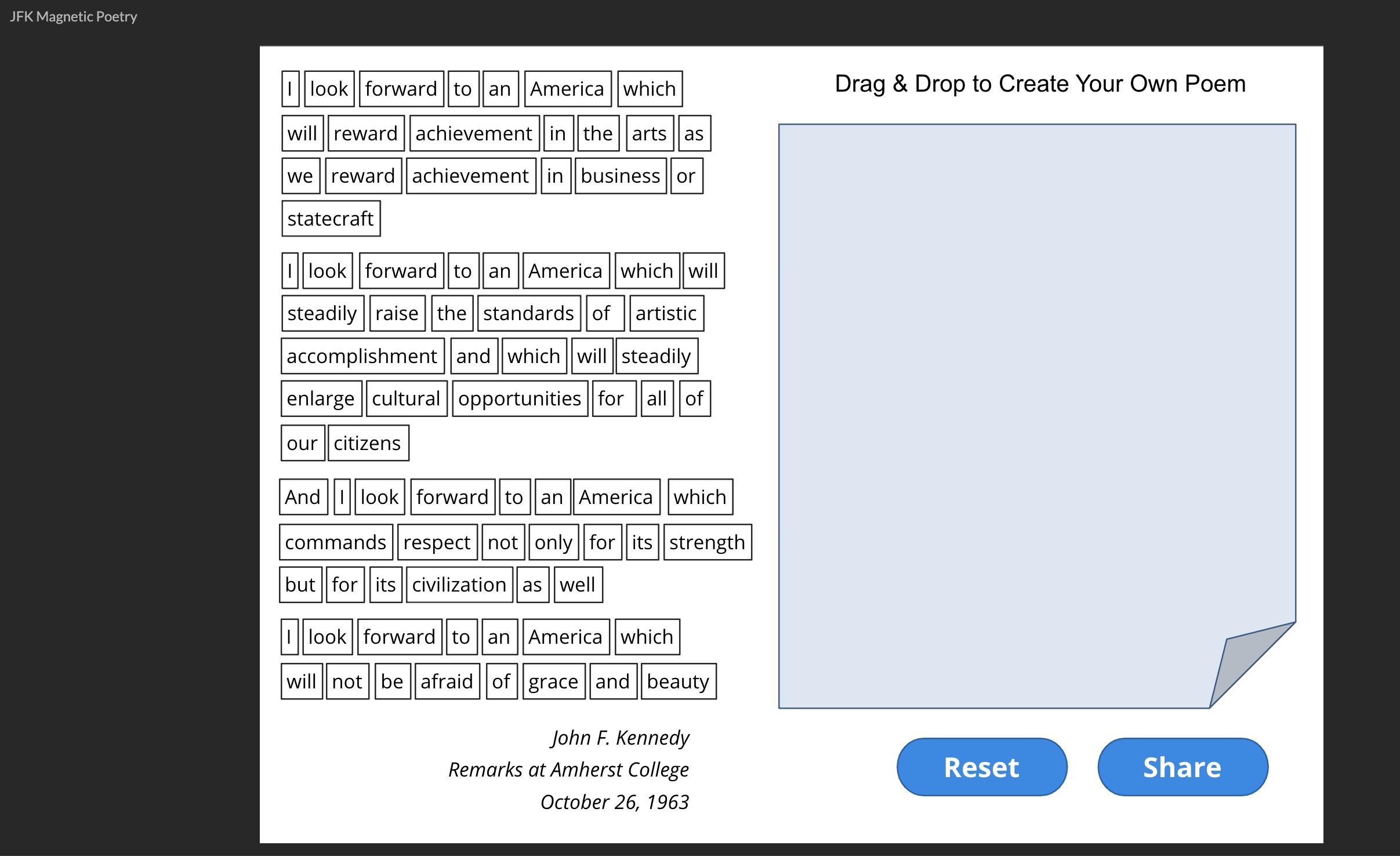 Magnetic Poetry Screenshot