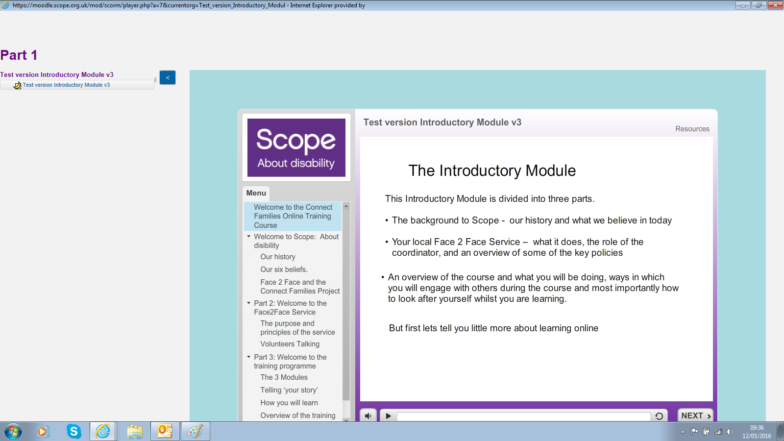 With Moodle navigation