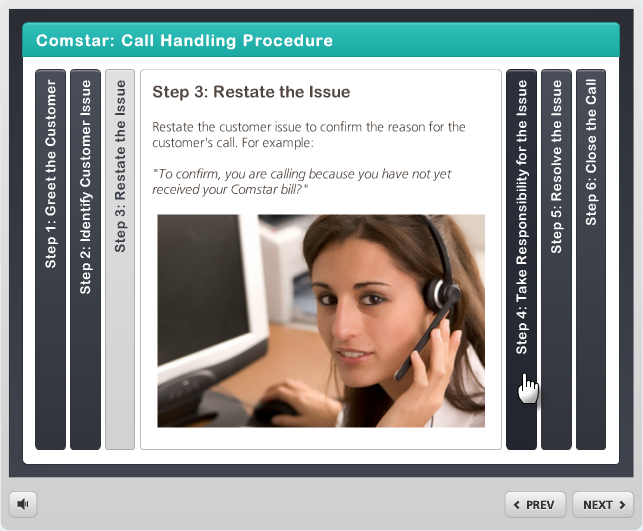 Example of a published accordion interaction in Articulate Engage 360