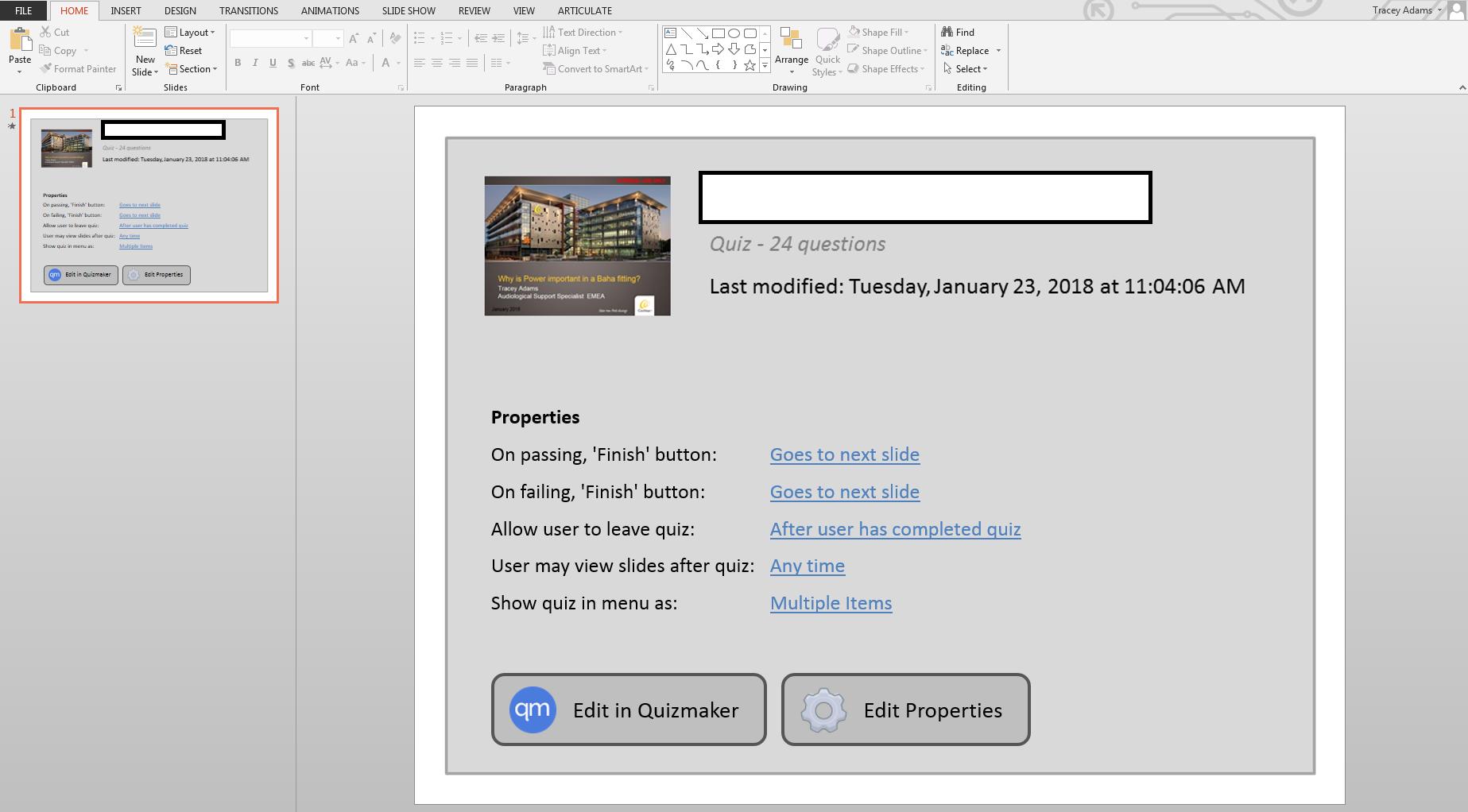 one slide in powerpoint