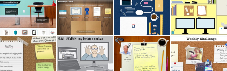 Desktop and Office Themed Designs in E-Learning