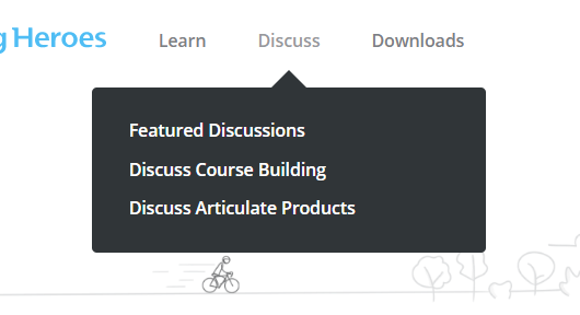 ELH discussion drop down menu
