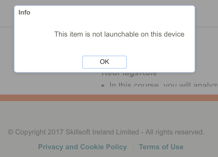 This item will not launch on this device.