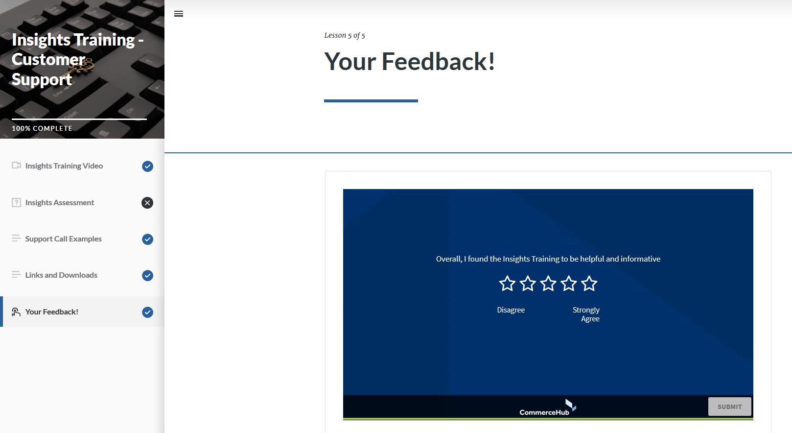 Embedded Survey (GetFeedback, Single Question)