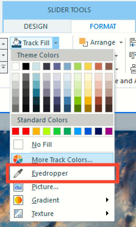 Eyedropper tool in Storyline 360