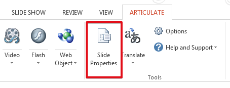 Slide Properties in Presenter