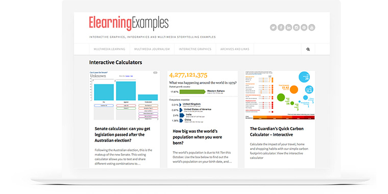 E-Learning Examples: Interactive Calculators
