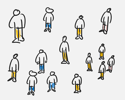 Image of a set of hand drawn characters