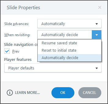 Slide properties