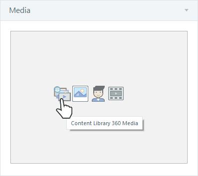 Insert Content Library 360 media