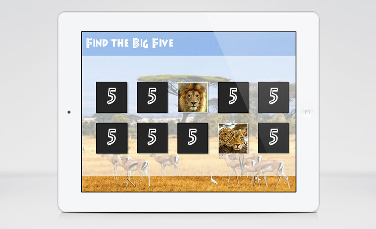 Find the Big Five Matching Game