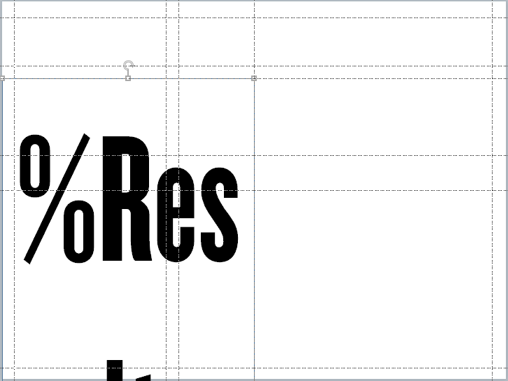 Results slide base layer with 140 pt typeface