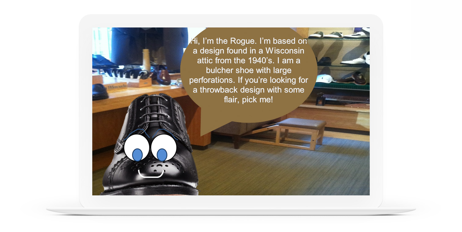 Anthropomorphic Shoes in E-Learning