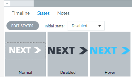 Next button initial state