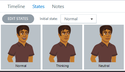 Character States in Storyline 2