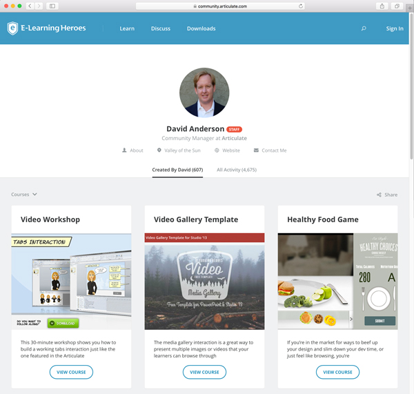 Showcase Your E-Learning Work