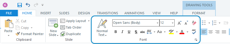 Font formatting options in Storyline 360